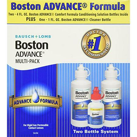 Baush & Lomb Boston Advance Comfort Formula for Rigid Gas Permeable Contact Lenses - Two 4 oz Bottles Plus 1 oz Cleaner (Gas Permeable Contact)