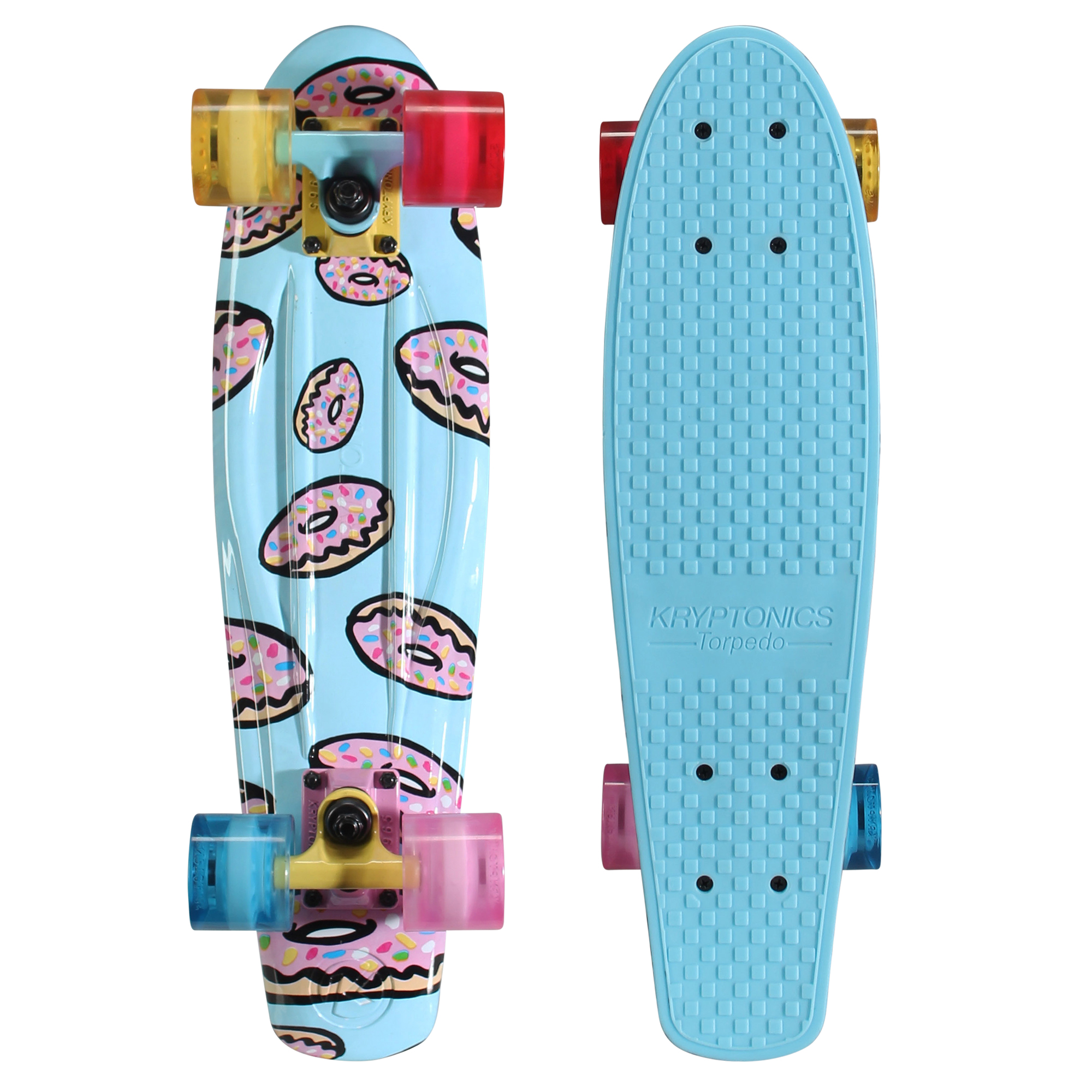 "Kryptonics Original Torpedo Complete Skateboard (22.5"" x 6"") by Bravo Sports"