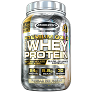 Premium Gold 100% Whey Protein Powder, Ultra Fast Absorbing Whey Peptides & Whey Protein Isolate, Vanilla Ice Cream, 30 Servings (2.23lbs)