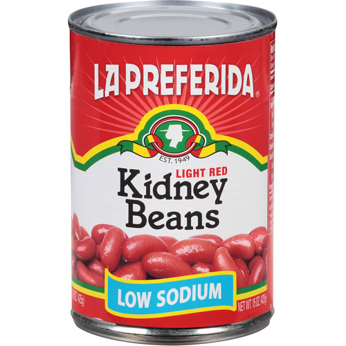 La Preferida Low Sodium Kidney Beans, 15 oz, (Pack of 12)