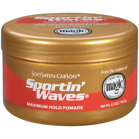 (2 Pack) SoftSheen-Carson Sportin' Waves Maximum Hold Pomade, 3.5 - Packs Wave