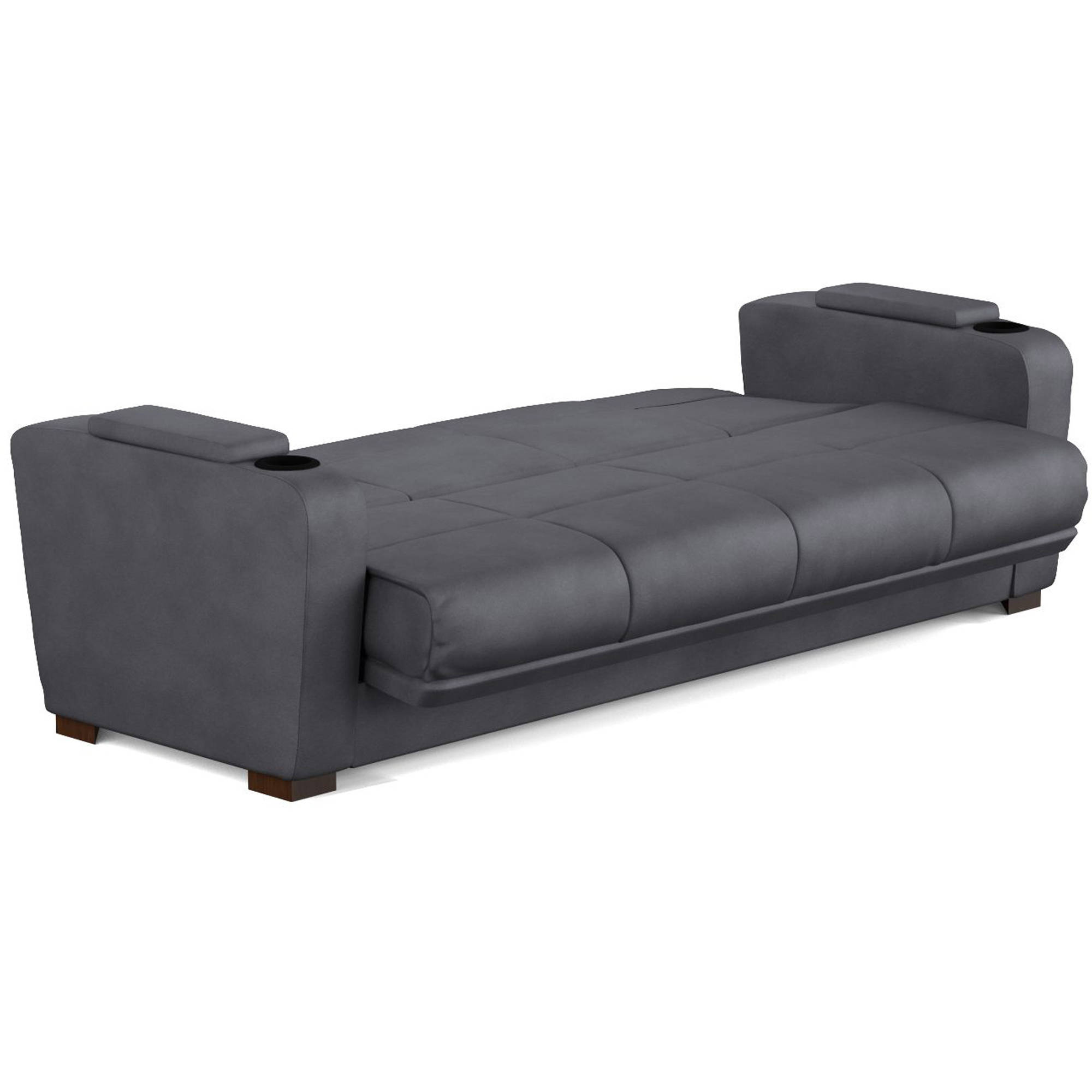 Mainstays Tyler Futon With Storage Sofa Sleeper Bed Multiple Colors