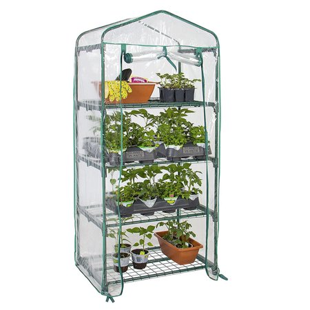 "4 Tier Greenhouse W/Clean Cover Winter Garden Plants Warm House - 27"" x 19"" x 63"" - image 1 of 6"