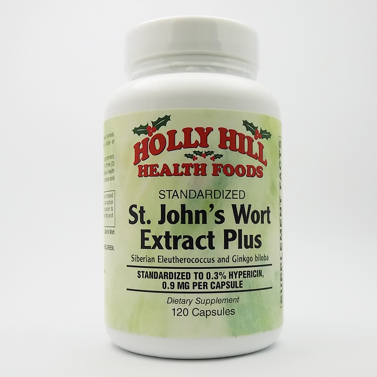 Holly Hill Health Foods, Standardized St. John's Wort Extract Plus, 120 Capsules