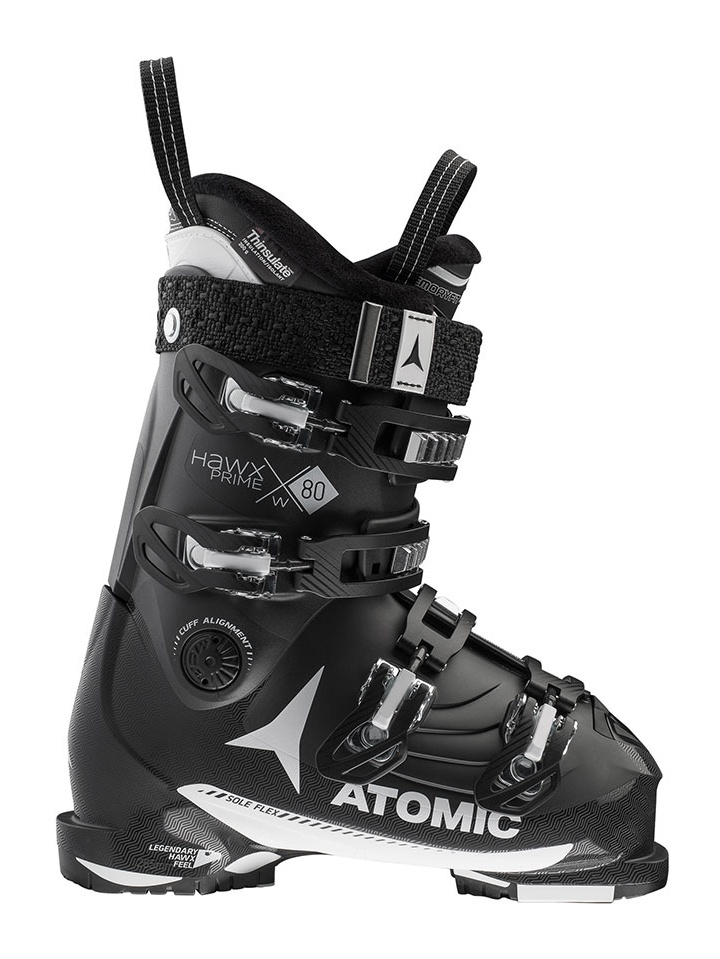Atomic Women's Hawx Prime 80 Ski Boots 2018  Black/White 26/265