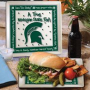 Michigan State True Fan Square Plate