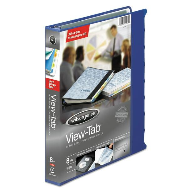 Wilson Jones View-Tab Presentation Round Ring View Binder