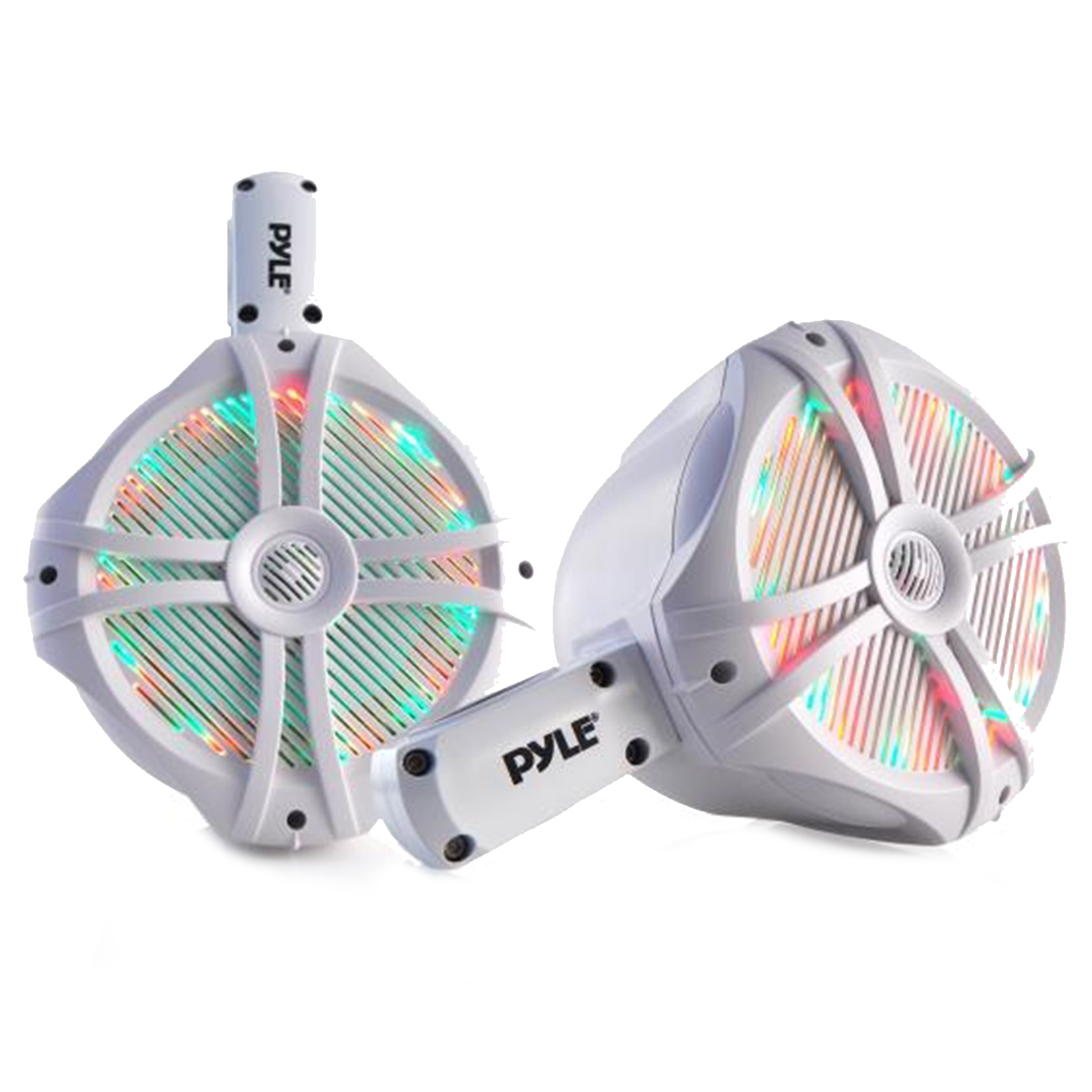 "Dual Marine Wakeboard Water Resistant Speakers, Built-in Programmable Multi-Color LED Lights, 6.5"" Tower Speakers,... by Pyle"