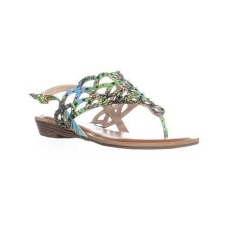 Womens ZiGiSoho Mariane Flat Thong Sandals, Green Multi