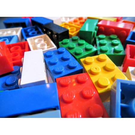 Lego Multicolor Bricks Game Children Building Poster Print 24 x 36
