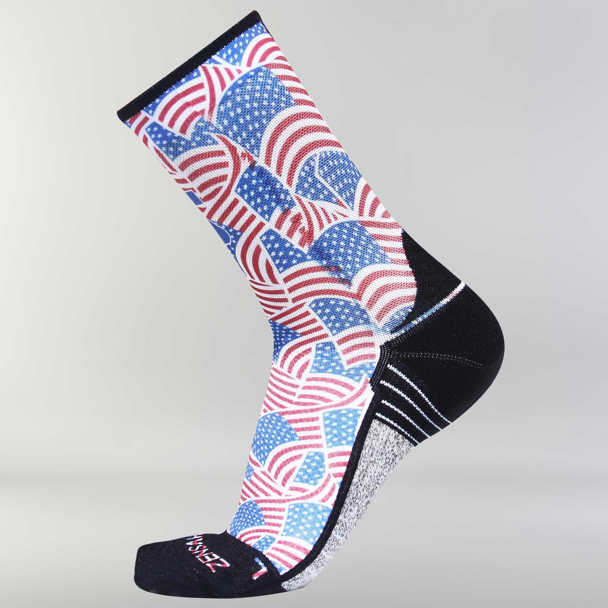 Independence Patriotic Socks (Mini Crew) S / USA Flags