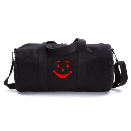 Kool Aid Man Name (Kool Aid Man Face Army Sport Heavyweight Canvas Duffel)
