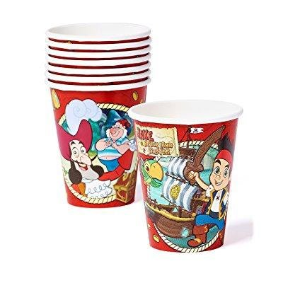 American Greetings Jake and the Never Land Pirates 9 oz. Paper Party Cups, 8 Count, Party Supplies Novelty