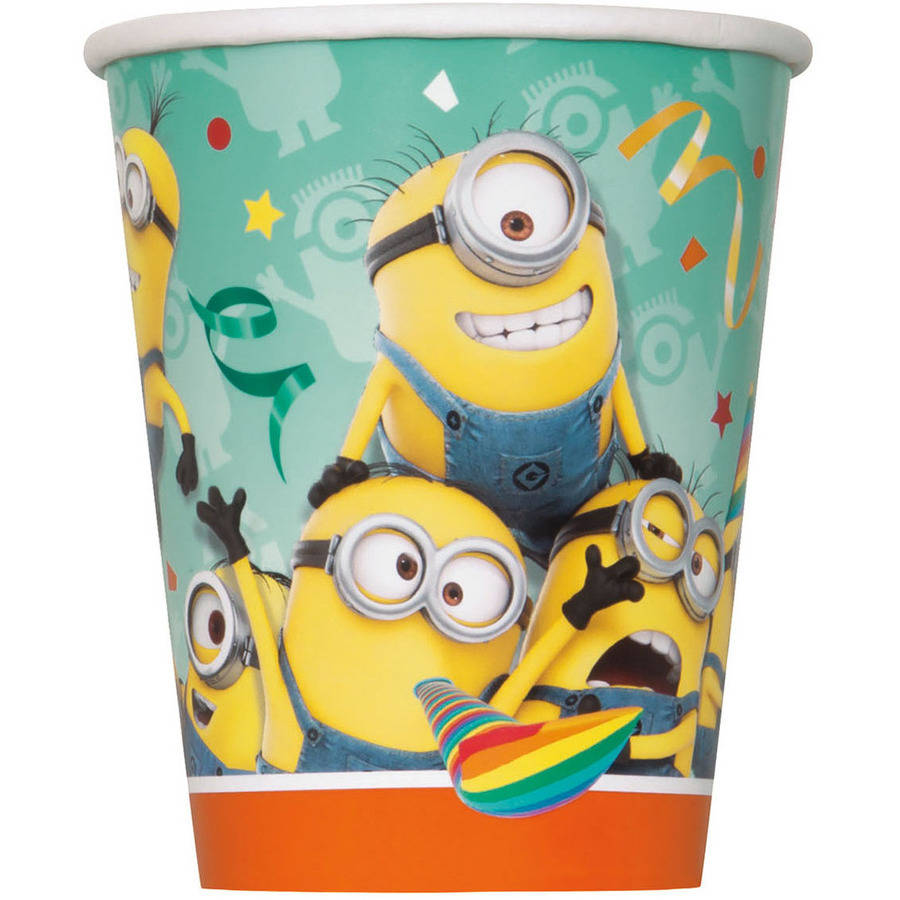 9-Ounce Paper Despicable Me Minions Cups, 8ct