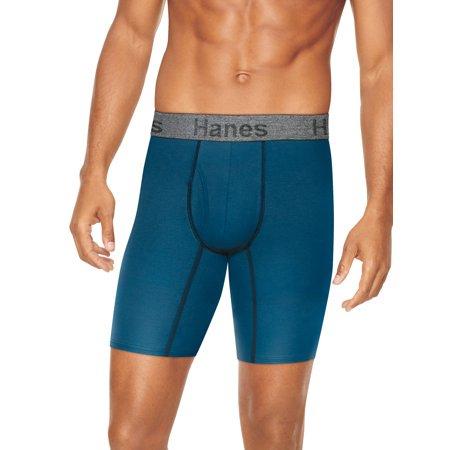 Hanes Mens Comfort Flex Fit Long Leg Boxer Briefs 3pk - L