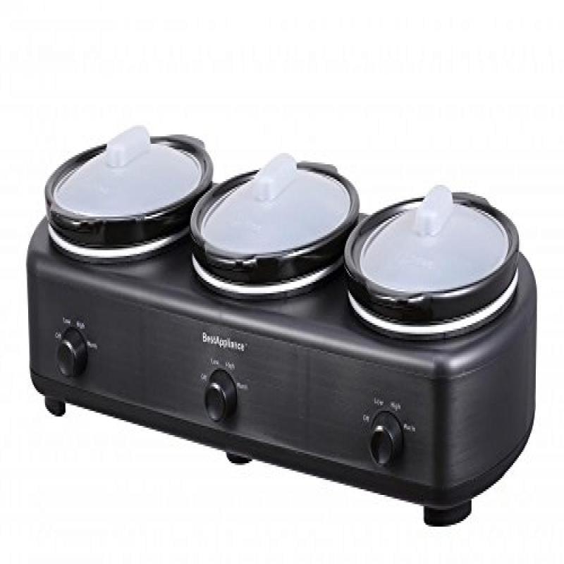 BestAppliance Triple Trio Slow Cooker Three 1.5-Quart Crocks Pot by BestAppliance