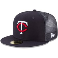 Minnesota Twins New Era On-Field Replica Mesh Back 59FIFTY Fitted Hat - Navy