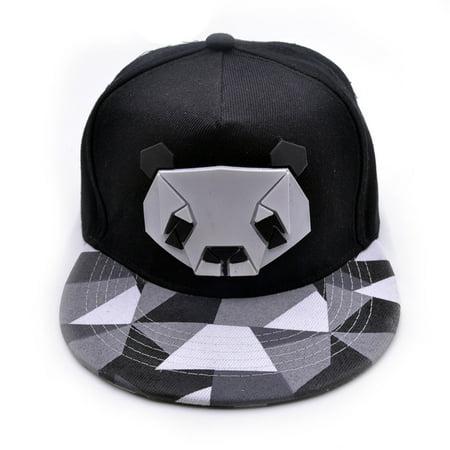 Outtop Women's Sports Baseball Panda Cap Snapback Golf ball Hip-Hop Hat BK - Fuzzy Panda Hat