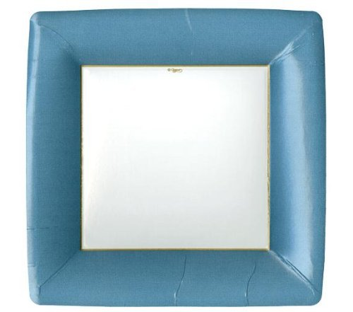 This button opens a dialog that displays additional images for this product with the option to zoom in or out.  sc 1 st  Walmart.com & Entertaining Grosgrain Border Square Dinner Plates Slate Blue 8 ...