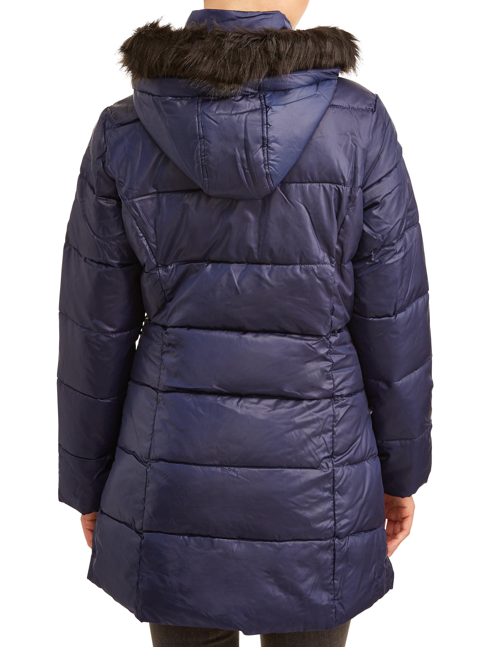 Street Essentials Girls Black Detachable Hood School Coat Smart Anorak Parka Jacket Sizes from 7 to 13 Years