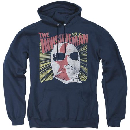 Trevco Sportswear UNI1248-AFTH-5 Universal Monsters & Invisible Portrait-Adult Pull-Over Hoodie, Navy - 2X - image 1 of 1