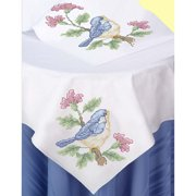 Herrschners® Springtime Table Topper & Runner Stamped Cross-Stitch