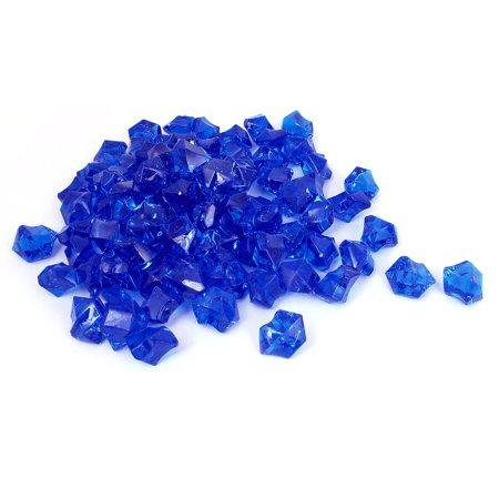 Unique bargains 110 pcs blue plastic crystal glass stone - Glass stones for fish tanks ...