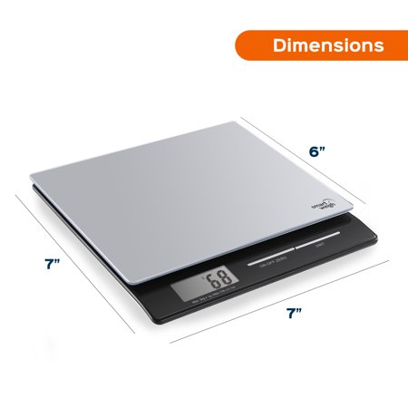 Smart Weigh Professional USPS Postal Scale with Tempered Glass Platform, Multiple Weighing Modes and Tare Function, Silver (Mail Order Glasses Prescriptions)