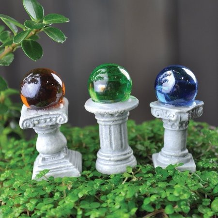 Fairy Garden Mini Gazing Globes, Set of 3, - Set of 3 Gazing Globes By Georgetown Home and Garden