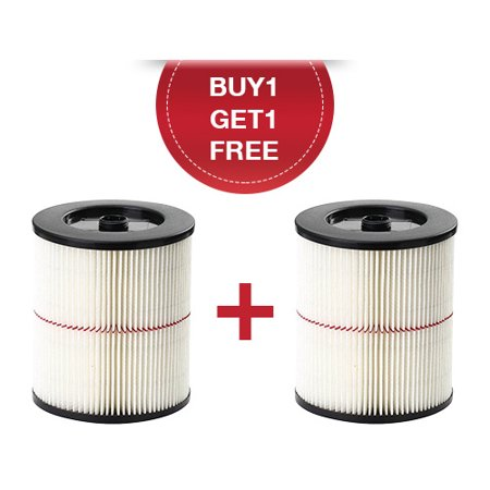 Replacement Shop Vac 17816 Vacuum Air Filter For All Craftsman Wet/Dry Vacs 5 gal or Larger ( Buy 1 Get 1 Free )