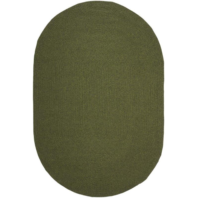Safavieh Braided 9' X 12' Oval Hand Woven Polypropylene Rug in Green - image 1 de 1