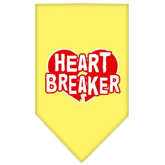 Heart Breaker Screen Print Bandana Yellow Large