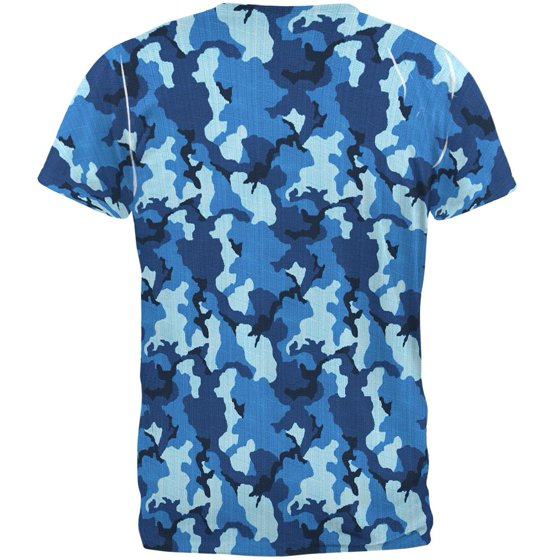 95b23433 Old Glory - Navy Blue Camo All Over Mens T Shirt - Walmart.com