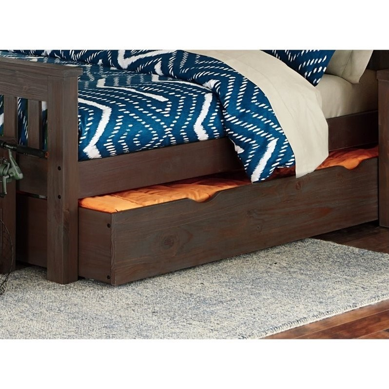 NE Kids Highlands Harper Twin over Full Bunk with Trundle in Espresso - image 1 of 2