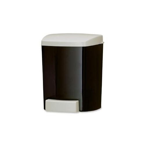 SAN JAMAR Soap Dispenser, Classic, Holds 30 oz, Black/Gray