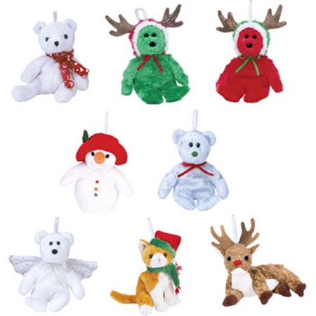 TY Jingle Beanie Babies - Holiday 2003 Complete set of 8 (Teddies, Herald, Jangle, Roxie etc)