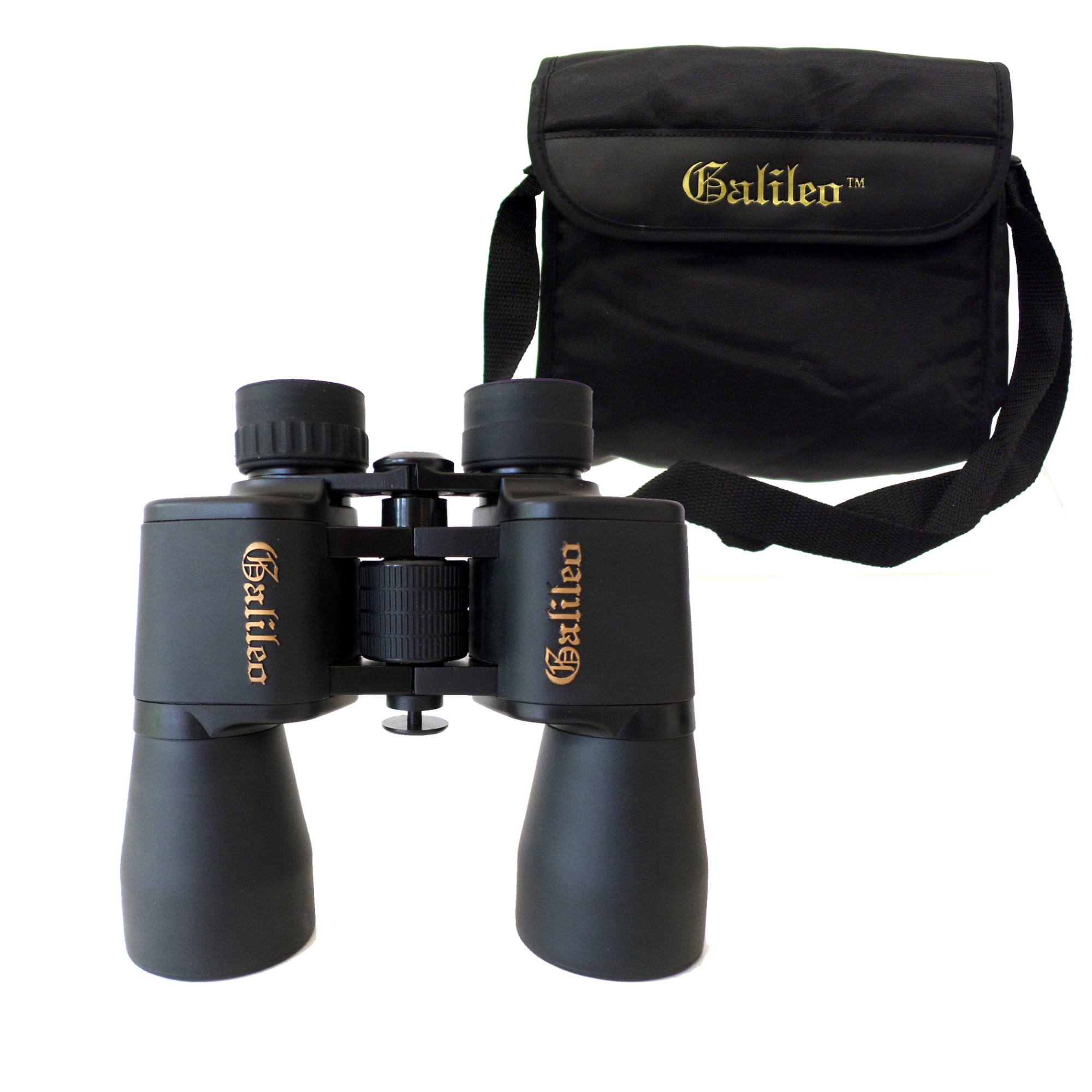 Galileo 8 Power Birding Binocular with 40mm lenses for wide field of view. Embossed logo, Rubber armoring, Tripod port and Shoulder Case.