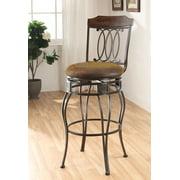 Acme Tavio Swivel Bar Chair, Set of 2, 2-Tone Brown and Black
