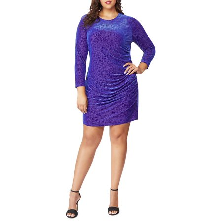 Plus Sweetheart Burnout Dress