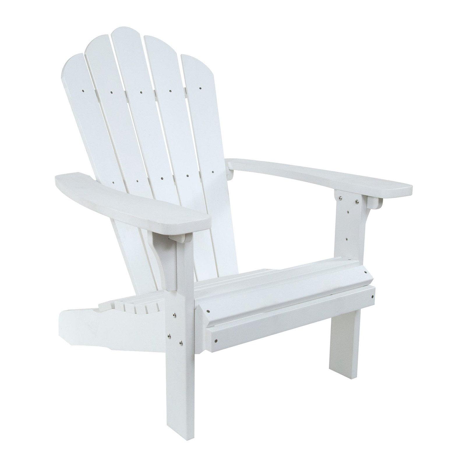 West Palm Plastic Adirondack Chair White by Shine Company