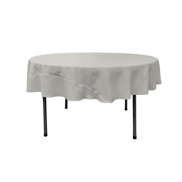 La Linen Polyester Poplin Tablecloth 72, What Size Tablecloth For A 72 Inch Long Table