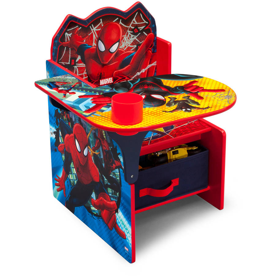 Delta Children Spider Man Chair Desk With Storage Bin Boys Toddler Furniture