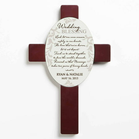 Personalized Wedding Gift - Wedding Blessing Wall Cross (Personalized Crosses)