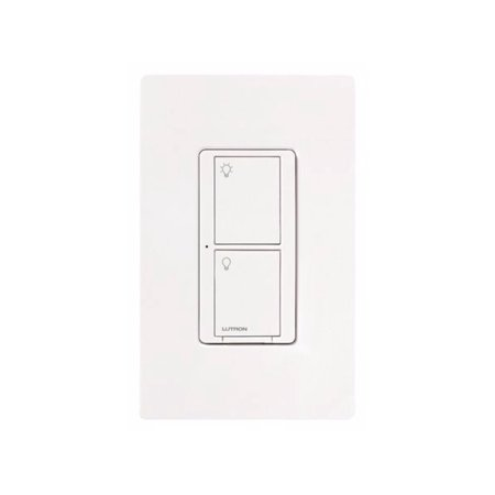 Lutron PD-5WS-DV-WH Light Switch, Caseta Wireless 5A Lighting & 3A Fan RF On/Off - White