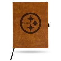 Pittsburgh Steelers Sparo Laser Engraved Large Notepad - Brown