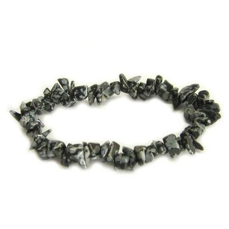 Handcrafted Snowflake Obsidian - Snowflake Obsidian Bracelet