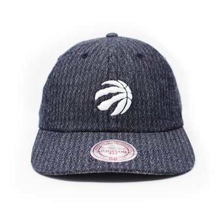 Mitchell and Ness Toronto Raptors Reverse Denim Blue Strapback Dad Hat - image 5 of 5