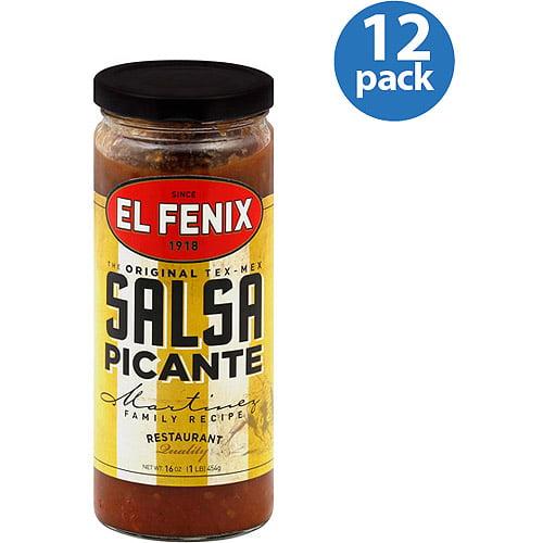 El Fenix Salsa Picante, 16 oz (Pack of 12)
