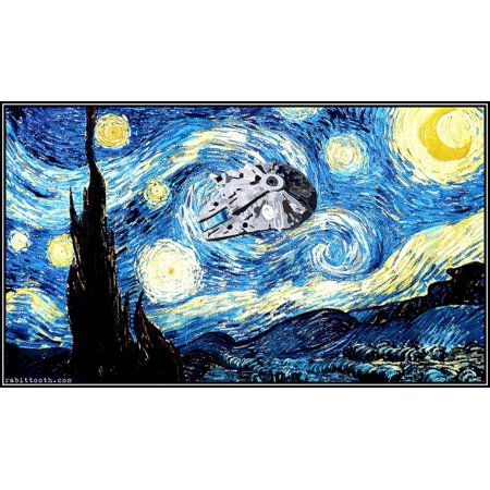 Vincent Van Gogh Starry Night Silk Fabric Cloth Poster Picture Painting Art Wall Home Decor 28