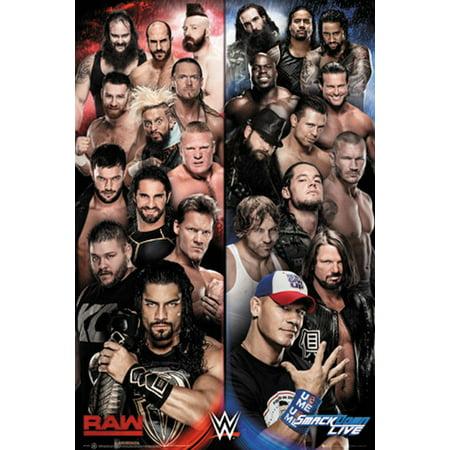 WWE - Wrestling Poster / Print (WWE Raw Vs. Smackdown) (Size: 24